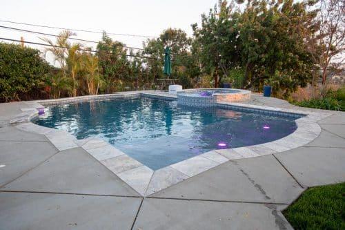 residential swimming pool built by Orange County pool builders