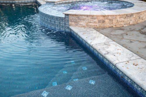 Orange County custom built residential swimming pool