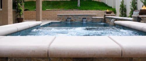 residential luxury swimming pool built by LA pool builders