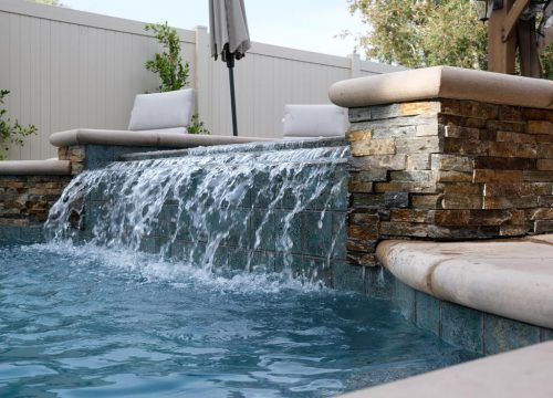 LA residential pool with waterfall feature built by Pool Icons pool contractors