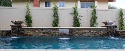 Los Angeles luxury swimming pool built by Pool Icons pool builders